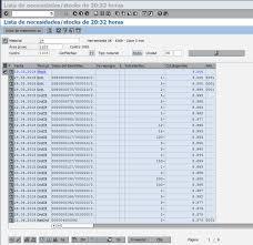 calendario SAP